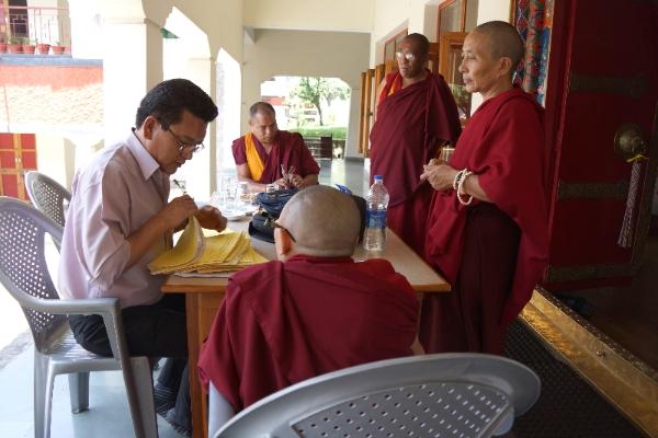 Geshema exam papers Tibetan Buddhist nuns 2014