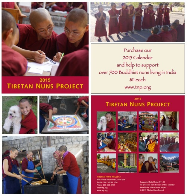 collage of images from the 2015 Calendar Tibetan Nuns Project