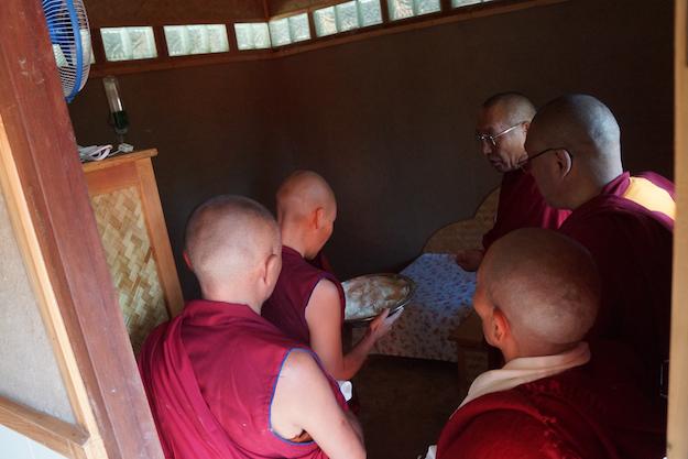 Dagri Rinpoche inaugurates retreat huts Dolma Ling Nov 2014