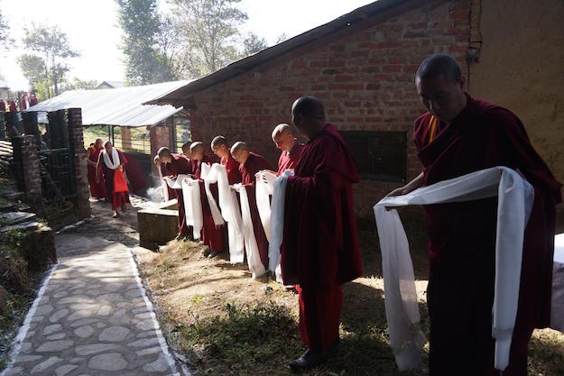 Inauguration retreat huts Dolma Ling 2014