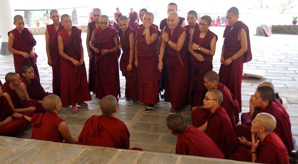 Tibetan Buddhist nuns debating