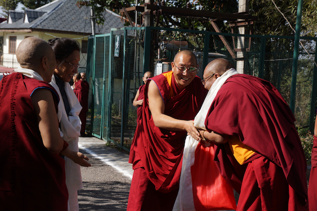 inauguration of retreat huts DF Nov 2014 Dagri Rinpoche