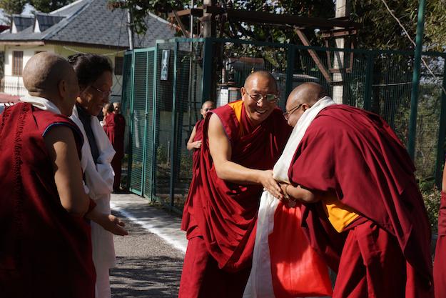 inauguration of retreat huts DF Nov 2014 Dagri Rinpoche