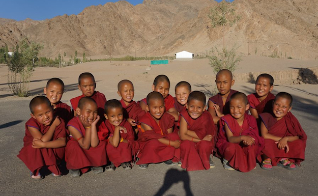 young Tibetan Buddhist nuns at Sherab Choeling Nunnery in Spiti 2014