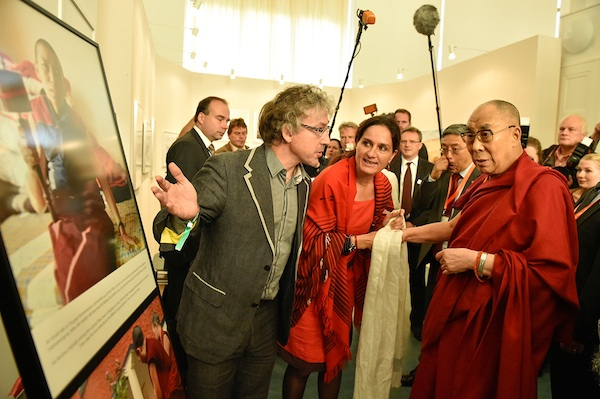 Olivier Adam and His Holiness the Dalai Lama