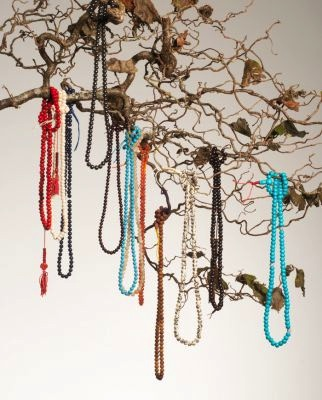 hanging Tibetan malas or prayer beads