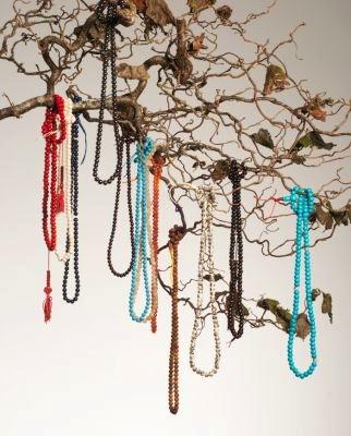 hanging Tibetan malas or prayer beads