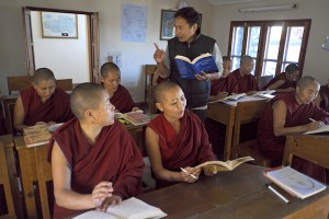 teaching Tibetan Buddhist nuns