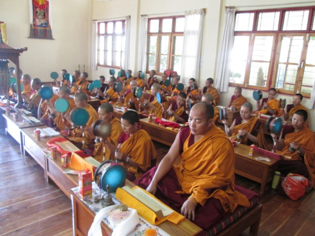 Chod ritual at Shugsep Nunnery