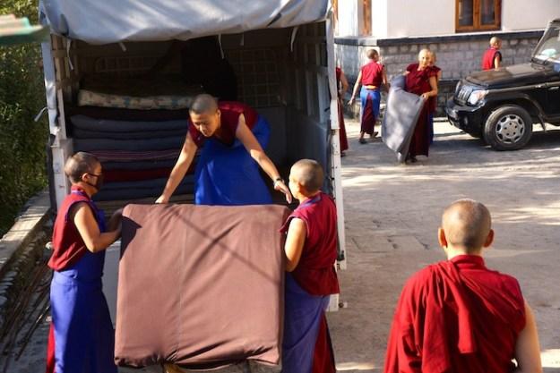 Tibetan Nuns Project, Buddhist nuns, Tibetan nuns, mattresses for nunnery, Dolma Ling Nunnery
