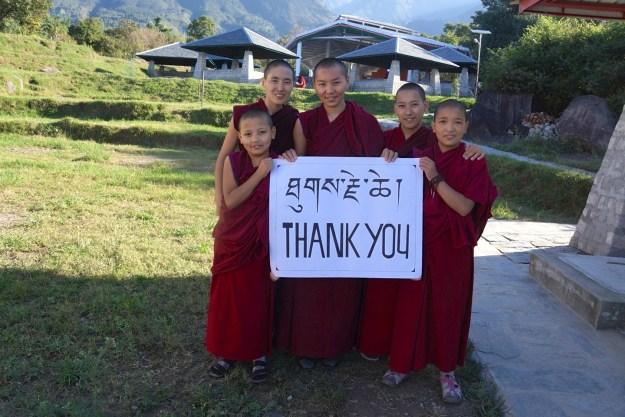 DSC09921 copy, giving thanks, Tibetan Nuns Project, Buddhist nuns