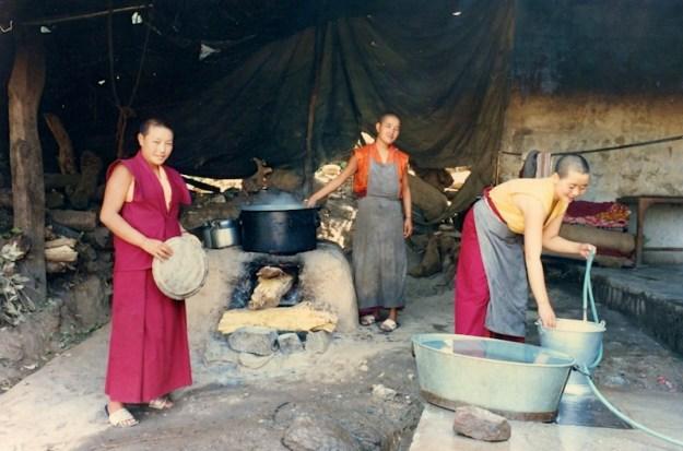 Dolma Ling Nunnery, nuns kitchen, Tibetan nuns, Buddhist nuns life, Tibetan Nuns Project