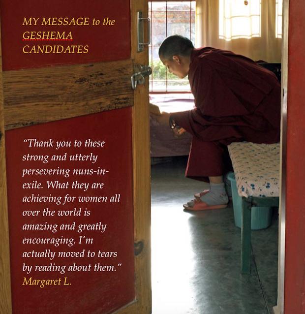 Congratulations messages to Geshema graduates - Tibetan Nuns