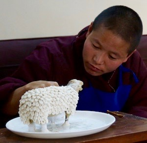Tibetan nun, Tibetan art, butter sculpture, Buddhist nun, Dolma Ling, Tibetan Nuns Project