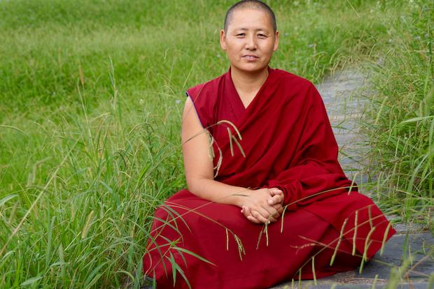 Tibetan nun Tenzin Kunsel