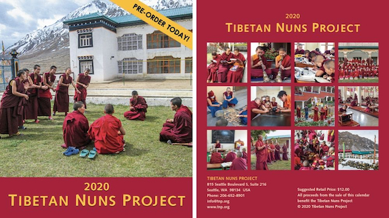 front and back covers of the 2020 Tibetan Nuns Project charity calendar