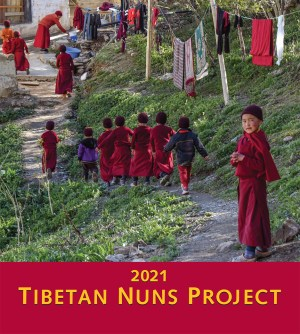 Tibetan Nuns Project 2021 Calendar cover-front