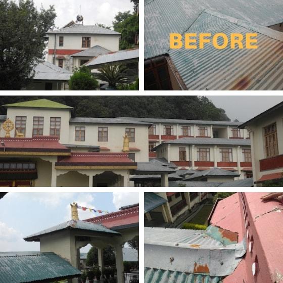 Shugsep Nunnery roof painting, nunnery roof