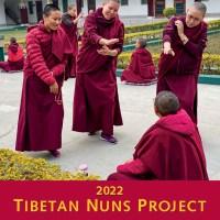 2022 Tibetan Nuns Project calendar with cover showing nuns practicing their debates.