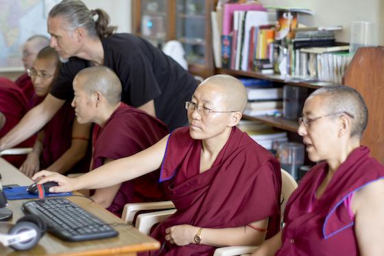 computer training for Tibetan nuns, Tibetan Buddhist nun, Tibetan nuns, Harald Weichhhart, Tibetan Nuns Project, media nuns