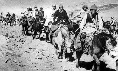 Dalai Lama escaping Tibet, March 1959,