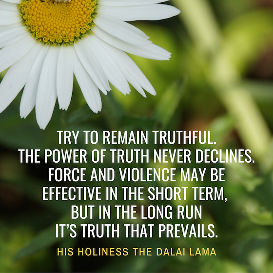 Dalai Lama inspirational quote on truth copy