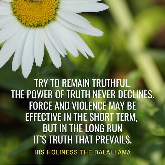 Dalai Lama inspirational quote on truth copy