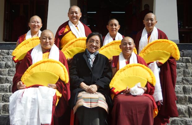 Geshema graduates, Tibetan Buddhist nuns, Rinchen Khando Choegyal
