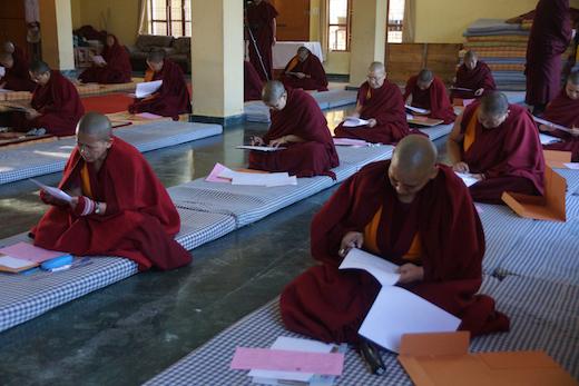 Tibetan nun exams, Tibetan Buddhism. geshema