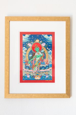 Green Tara-framed