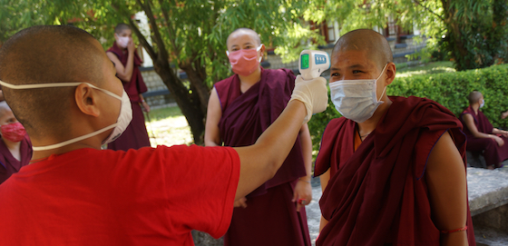 Health checks for Tibetan Buddhist nuns during coronavirus pandemic