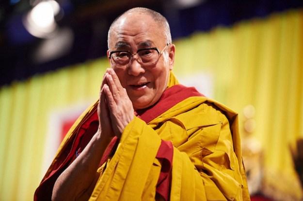 Dalai Lama, Olivier Adam, gesture of greeting, mudra, mudras