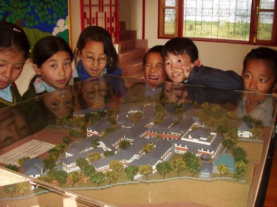 architectural model of Dolma Ling Nunnery and Institute