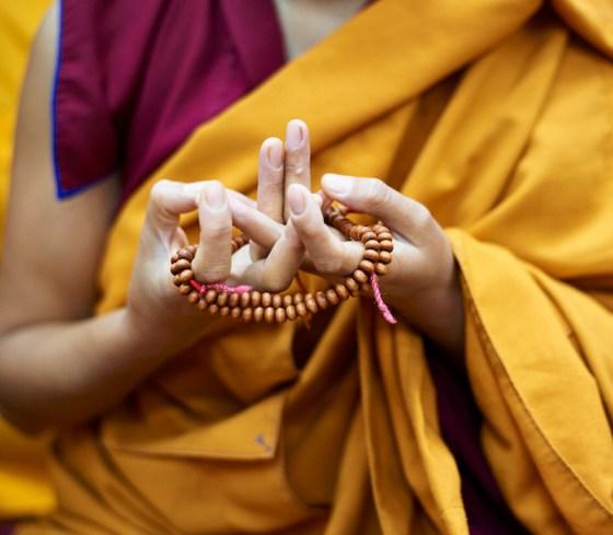 Mandala Mudra, authentic mala beads, mudra, Olivier Adam, Tibetan mudra, Tibetan Buddhist nun, mala