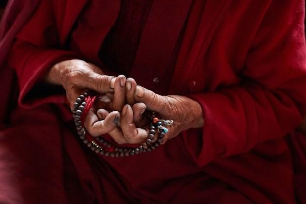 mandala offering, mudras, Tibetan Buddhist nun, Zanskar nunnery, Olivier Adam, Tibetan Nuns Project, sacred hand genstures, mudra