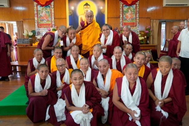 Geshema, Tibetan Buddhist nuns, Dalai Lama,