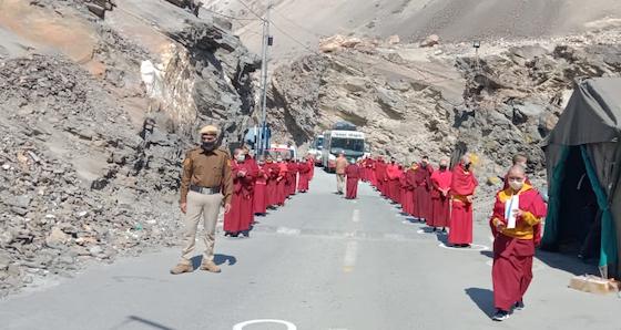 Sherab Choeling Nuns, Tibetan Buddhist nuns, social distancing