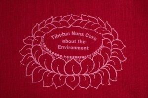 Maroon Bag Shopping bag is made of cotton, reusable and eco-friendly with Tibetan Nuns Project screenprint on both sides, handmade by Tibetan nuns.