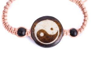 Yin Yang Cord Stitch Bracelet