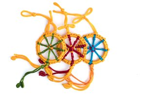 Large Dharma Wheel Yellow variations