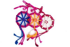 Large Dharma Wheel Rose/Magenta variations