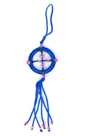 Small Dharma Wheel Blue