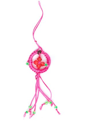 Small Dharma Wheel Pink