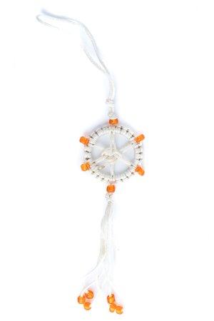 Small Dharma Wheel White/Beige