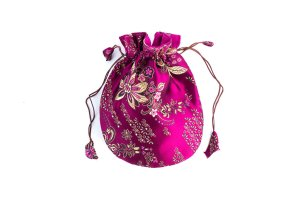 Mala Bag Brocade Plum