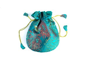 Mala Bag Brocade Teal