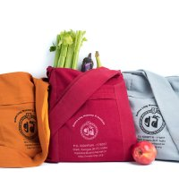 Nun Bags are an eco-friendly, sturdy cotton tote bag, handmade by the Tibetan Buddhist nuns, available in a multitude of bright colors