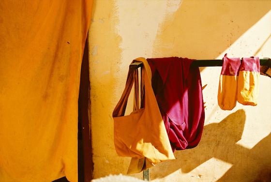 Nuns bag, nuns robe, Tibetan Nuns Project, Olivier Adam, Tibetan Buddhist nun