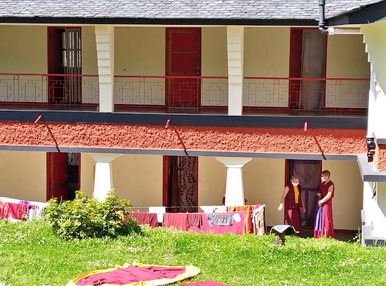 Tibetan Buddhist nunnery under coronavirus lockdown, COVID-19
