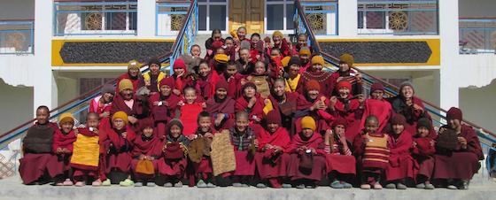 Nuns at Sherab Choeling Nunnery